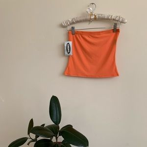 VTG 90's / 2000's orange Cropped Tube Top